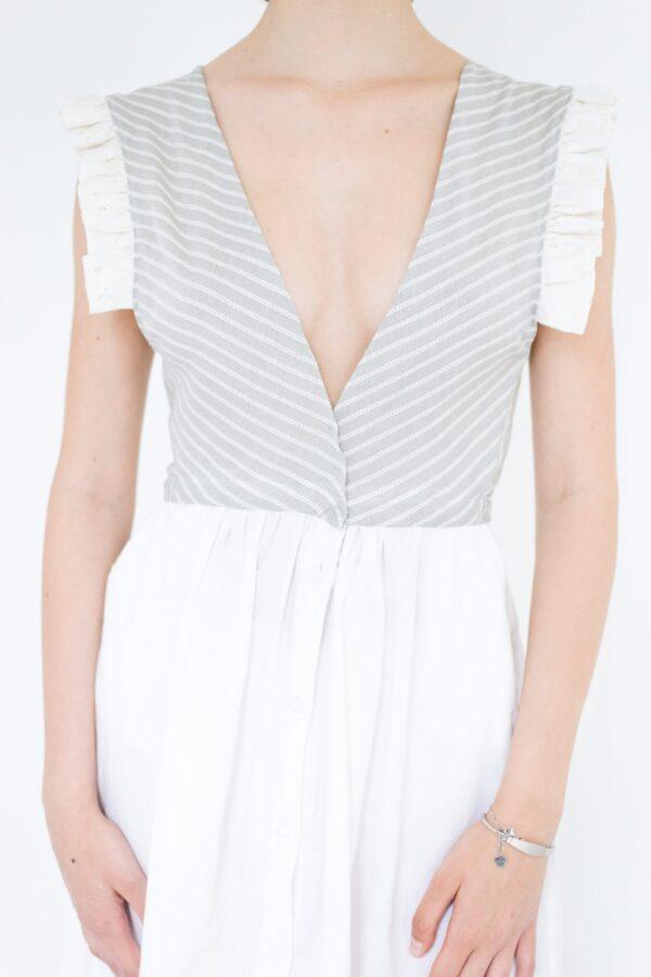 vestito in lino bianco upcycled