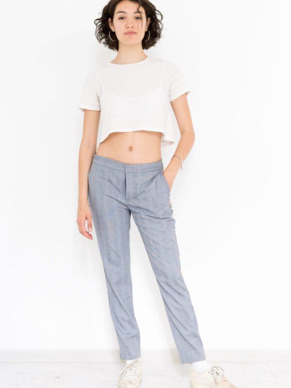 pantaloni lunghi blu upcycled